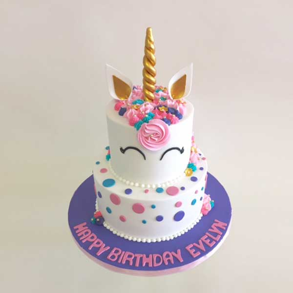 Bubbly-Unicorn-Cake - Mohali Bakers