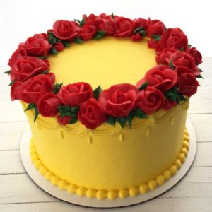 Yellow-Cream-Cake - Mohali Bakers